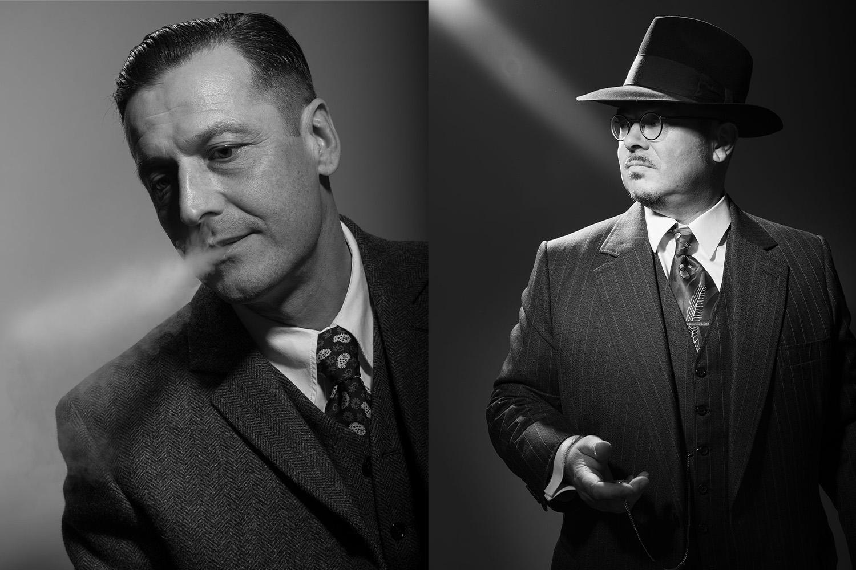 Zwei coole Männer im Vintage Look