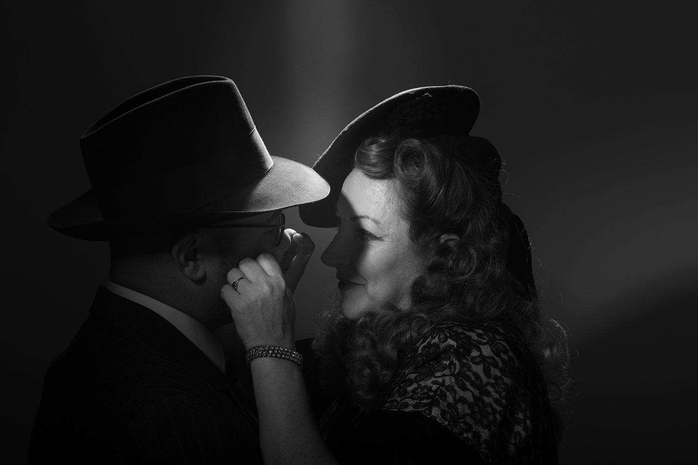 Vintage Portrait im Stil von Casablanca